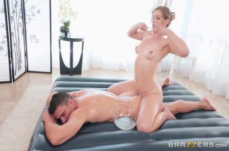 После массажа муж жестко присунул женушке